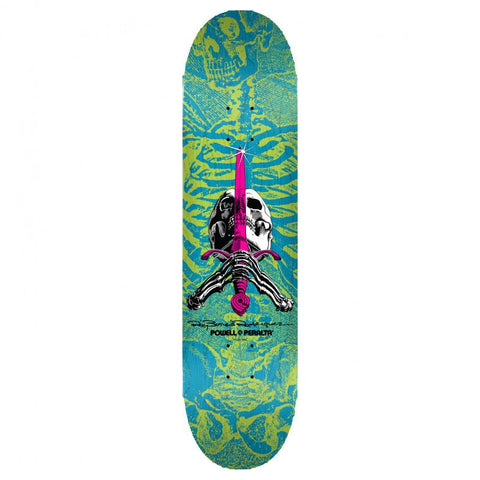 POWELL PERALTA SKULL & SWORD BLUE 8.25