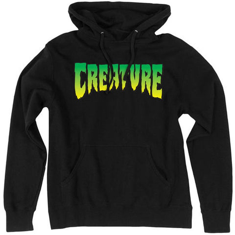 CREATURE LOGO HOODED SWEATER BLACK