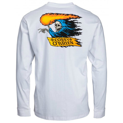 SANTA CRUZ COREY REAPER LONG SLEEVE WHITE