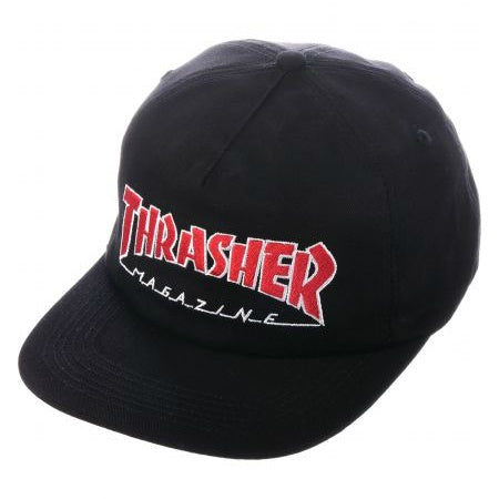 THRASHER OUTLINED SNAPBACK BLACK