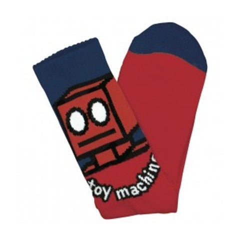 TOY MACHINE ROBOT SOCK RED