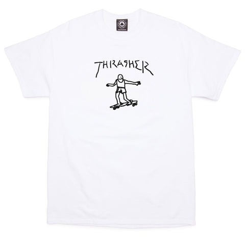 THRASHER GONZ T-SHIRT WHITE - Skateboards Amsterdam