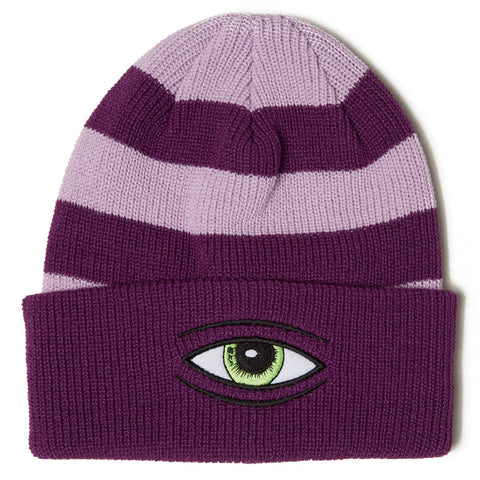 TOY MACHINE SECT EYE STRIPE DOCK BEANIE PURPLE