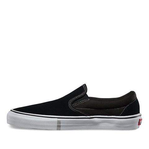 76144276b82913 VANS SLIP-ON PRO BLACK WHITE RED - Skateboards Amsterdam - 3