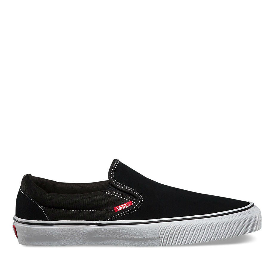 4dda9efa5c0150 VANS SLIP-ON PRO BLACK WHITE RED – Skateboards Amsterdam