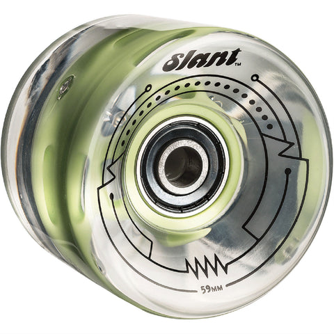 SLANT LIT WHEEL CLEAR GREEN 59MM