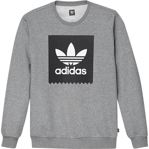 ADIDAS BB CREWNECK COLLEGIATE HEATHER/BLACK/WHITE