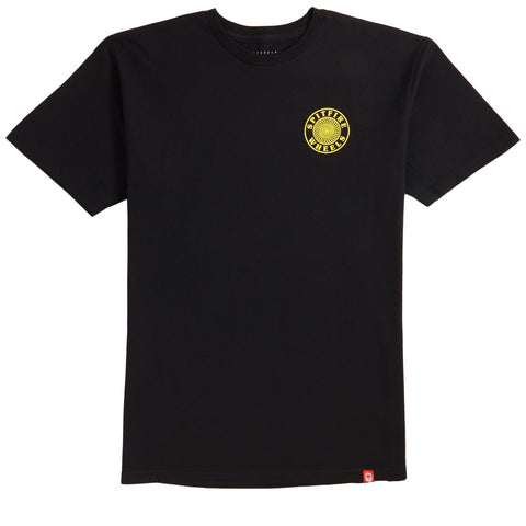 SPITFIRE OG CIRCLE OUTLINE T-SHIRT BLACK/YELLOW