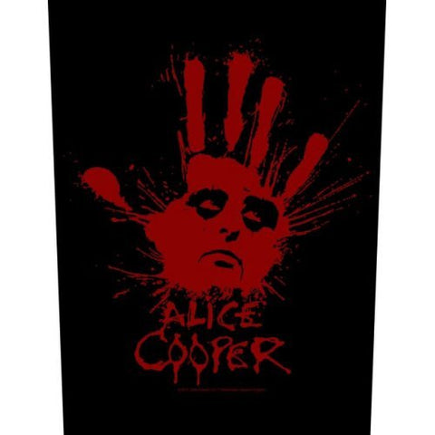 ALICE COOPER BACK PATCH SPLATTER HAND - Skateboards Amsterdam - 1