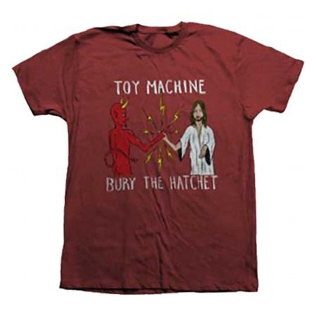 TOY MACHINE BURY THE HATCHET II T-SHIRT BRICK PEPPER