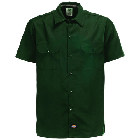 DICKIES WS576 SLIM SHORT SLEEVE WORK SHIRT OLIVE GREEN