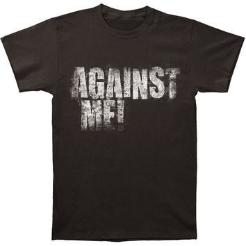 AGAINST ME! LOGO T-SHIRT VINTAGE COAL - Skateboards Amsterdam