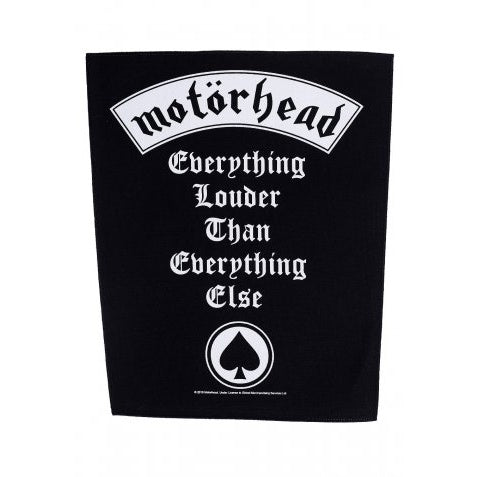 MOTORHEAD  EVERYTHING LOUDER BACKPATCH