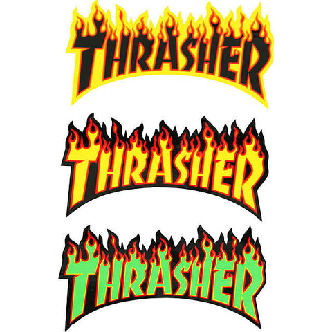THRASHER FLAME STICKER MEDIUM - Skateboards Amsterdam