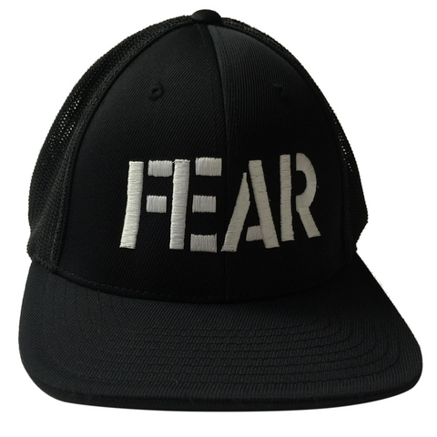 FEAR LOGO EMBROIDERED BALL CAP BLACK - Skateboards Amsterdam