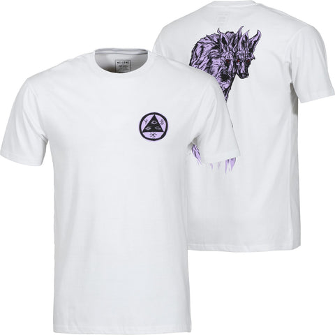 WELCOME MANED WOOF T-SHIRT WHITE/LAVENDER