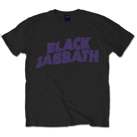 BLACK SABBATH WAVY LOGO VINTAGE T-SHIRT BLACK - Skateboards Amsterdam - 1