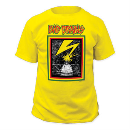 BAD BRAINS-1ST ALBUM COVER YELLOW T-SHIRT - Skateboards Amsterdam - 1