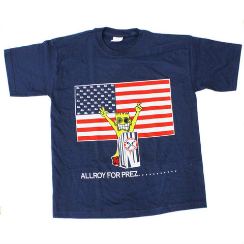ALL ALLROY FOR PREZ T-SHIRT NAVY - Skateboards Amsterdam