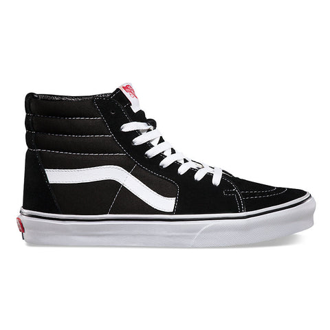 VANS  SK8-HI BLACK/TRUE WHITE - Skateboards Amsterdam - 1