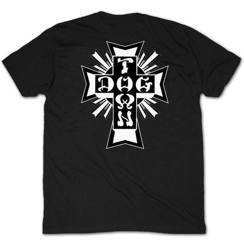DOGTOWN CROSS LOGO T-SHIRT BLACK - Skateboards Amsterdam - 1