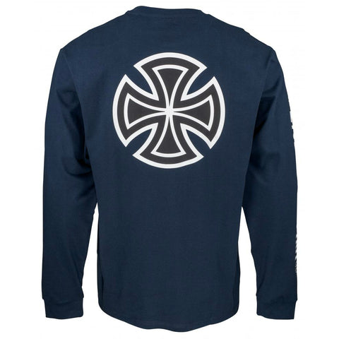 INDEPENDENT BAR CROSS LONG SLEEVE NAVY