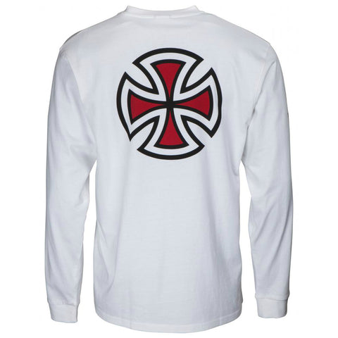 INDEPENDENT BAR CROSS LONG SLEEVE WHITE