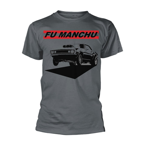 FU MANCHU MUSCLE CAR T-SHIRT GREY