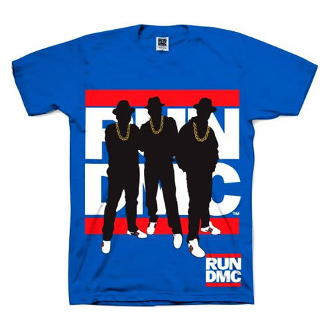 RUN DMC SILHOUETTE T-SHIRT BLUE - Skateboards Amsterdam - 1