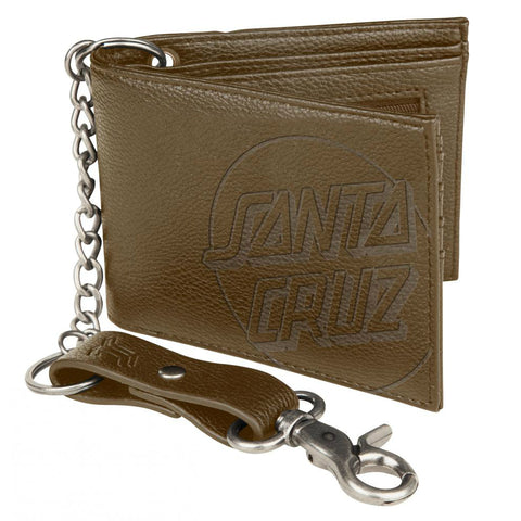 SANTA CRUZ OPUS DOT CHAIN WALLET BROWN