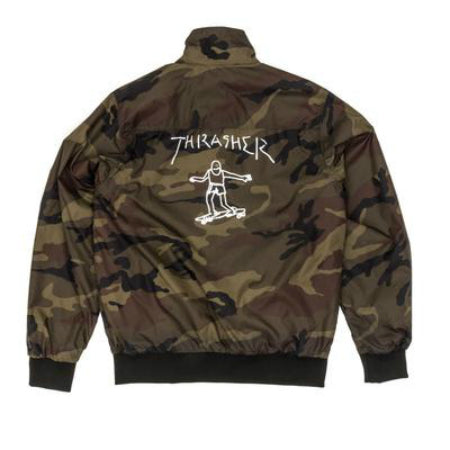 THRASHER GONZ REVERSIBLE COACH JACKET BLACK/CAMO