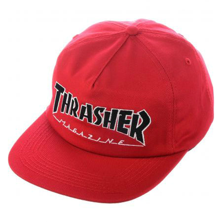 THRASHER OUTLINED SNAPBACK RED