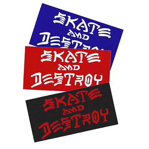 THRASHER SKATE AND DESTROY STICKER LARGE - Skateboards Amsterdam - 1