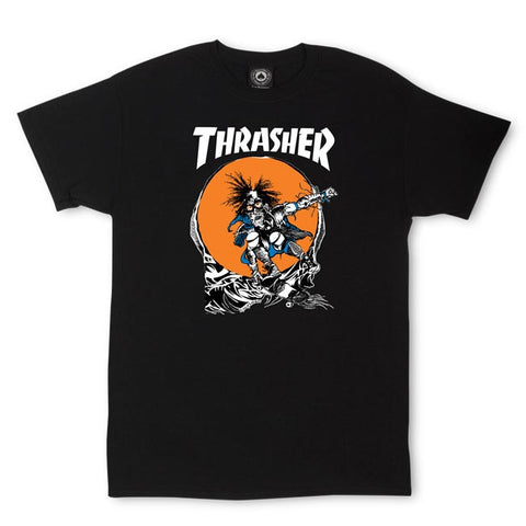 THRASHER SKATE OUTLAW T-SHIRT BLACK