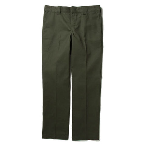 DICKIES WP873 SLIM STRAIGHT WORK PANT OLIVE GREEN - Skateboards Amsterdam - 1