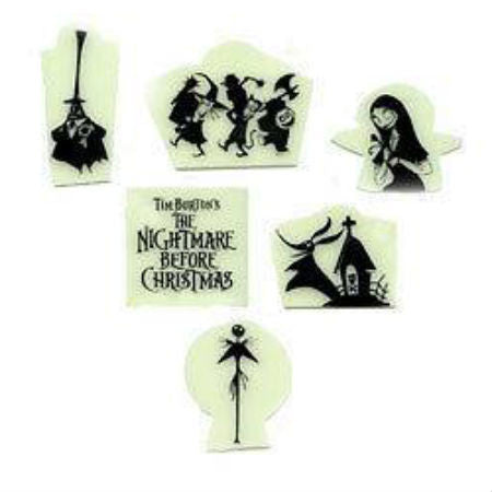 NIGHTMARE BEFORE CHRISTMAS GLOW-IN-THE-DARK ADHESIVE CHARACTERS - Skateboards Amsterdam