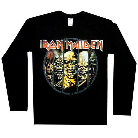 IRON MAIDEN EDDIE EVOLUTION LONG SLEEVE BLACK - Skateboards Amsterdam