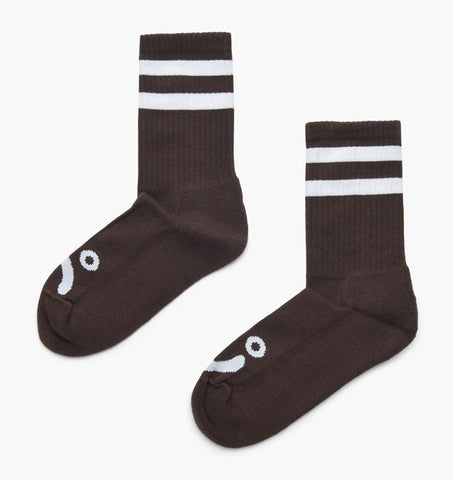 POLAR HAPPY SAD SOCKS BROWN