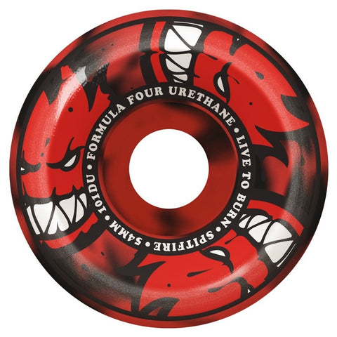 SPITFIRE FORMULA FOUR AFTERBURNERS RED/BLACK SWIRL  101A 52MM