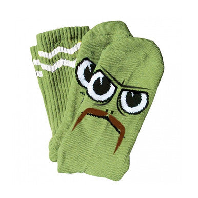 TOY MACHINE TURTLEBOY STACHE SOCK GREEN LIME