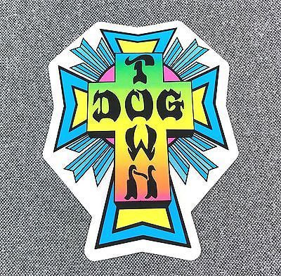 DOGTOWN SKATES SKATE DECK NEON STICKER 4'