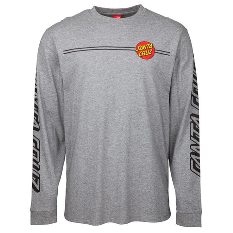 SANTA CRUZ OG CLASSIC DOT LONG SLEEVE DARK HEATHER