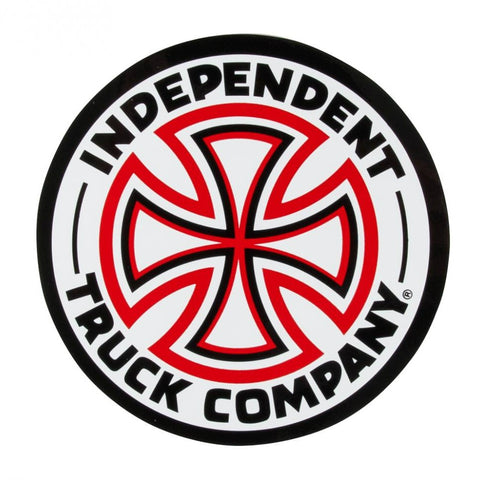 INDEPENDENT CROSS STICKER RED/WHITE 6 INCH