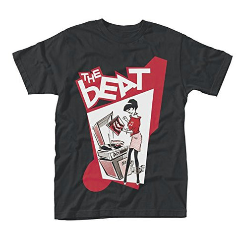 BEAT RECORD PLAYER GIRL T-SHIRT BLACK - Skateboards Amsterdam