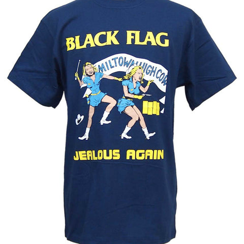 BLACK FLAG JEALOUS AGAIN T-SHIRT NAVY - Skateboards Amsterdam