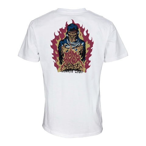 SANTA CRUZ KNOX FIREPIT T-SHIRT WHITE
