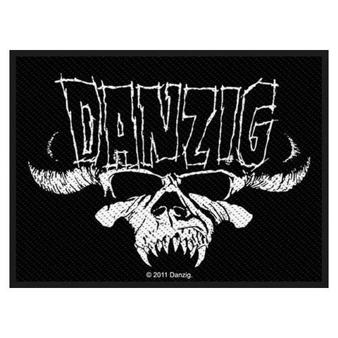 DANZIG SEW ON PATCH CLASSIC SKULL - Skateboards Amsterdam - 1