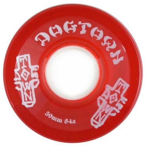 DOGTOWN MINI CRUISER OG TRANSPARENT RED 84A 59MM