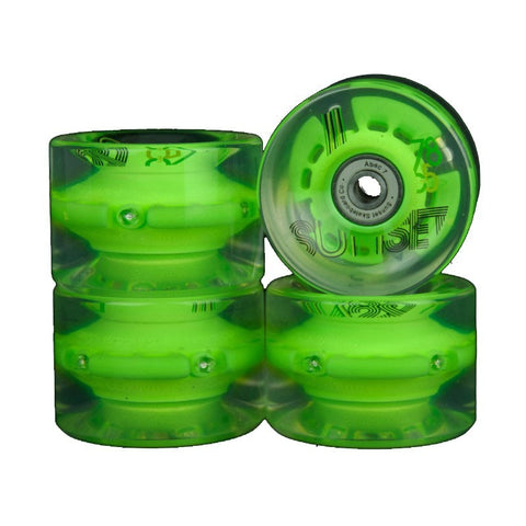 SUNSET LED 65MM GREEN - Skateboards Amsterdam