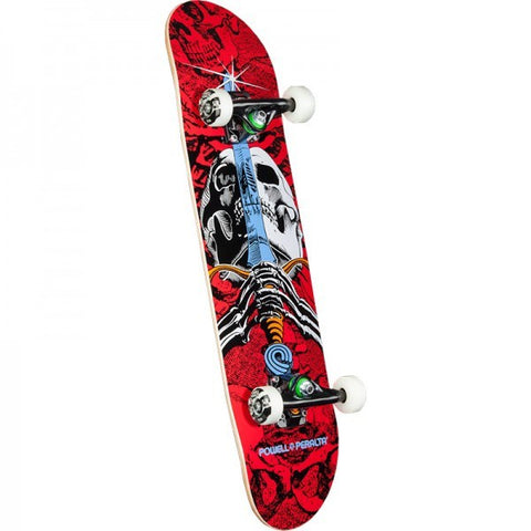 POWELL PERALTA  SKULL AND SWORD ONE OFF COMPLETE RED/WHITE 7.5